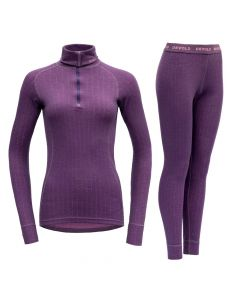 DEVOLD Duo Active Woman Zip Neck & Long Johns - Galaxy