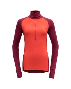 Devold Expedition Woman Zip Neck Merinoshirt Beetroot