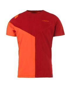 La Sportiva Dru T-Shirt Klettershirt - Chili/Pumpkin