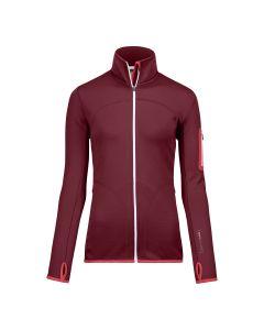 Ortovox Fleece Jacket Women Fleece Jacke dark blood