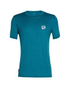 Icebreaker Mens Tech Lite SS Crewe Merino Bergfuchs T-Shirt Poseidon